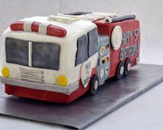 I need to make this for grandpa! Beki Cook's Cake Blog: How to Make a Firetruck Cake
