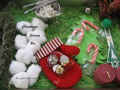 The Good Long Road: Dollar Store Christmas Sensory Bin