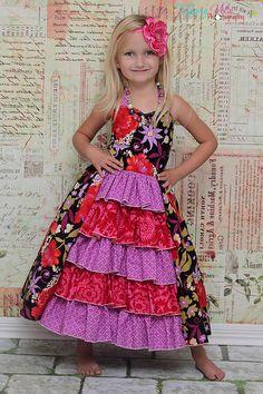 Penelope's Princess Ruffle Dress PDF Pattern by CreateKidsCouture