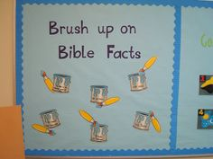 Brush up on Bible Facts bulletin board