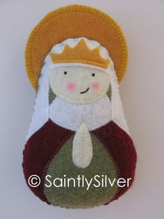Saint Emma Felt Saint Softie by SaintlySilver on Etsy, $18.00