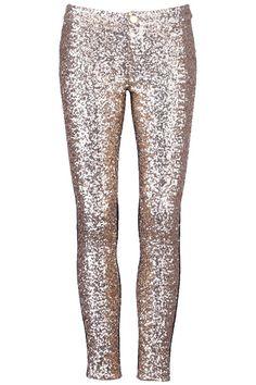 Golden Sequined Leggings