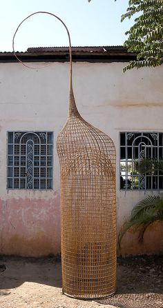 Stalk, Version 2 Sopheap Pich  (born Battambang, Cambodia 1971)  Date:     2009 Culture:     Cambodia Medium:     Bamboo, rattan, wire Dimensions:     144 × 54 × 26 in. (365.8 × 137.2 × 66 cm) Classification:     Sculpture Credit Line:     Lent by Tyler Rollins Fine Art Rights and Reproduction:     © The Artist and Lim Sokchan Lina