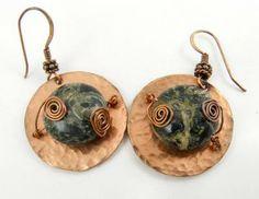 Green Jasper Earrings by Sweet Freedom Designs