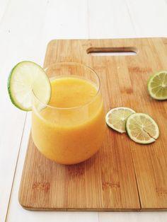 chili lime mango smoothie ++ via @Sara/Matchbox Kitchen