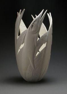 Ron Layport wood vessel.