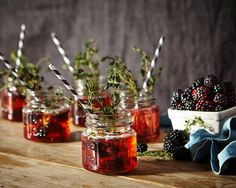 #Blackberry #Thyme #Champagne #Cocktail #AnthroBlog #Anthropologie  Image Via: Anthro Blog