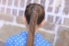 Lace Braided Ponytail | Cute Hairstyles #hairstyles #lacebraid #CGHLaceBraidedPonytail #braid #updo