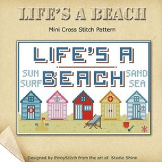 Stitch this clever twist on a saying about life. Designed in retro style. Easy and fun project to stitch!