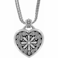 #WinOurHearts Floral Heart Locket Necklace  available at #Brighton