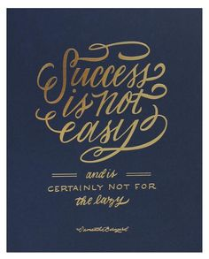 Success Is Not Easy - navy / The Everygirl