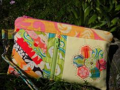Pouch - love the detail of the zippered pocket on the front