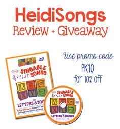 HeidiSongs Review + Giveaway and Promo Code - PreKinders