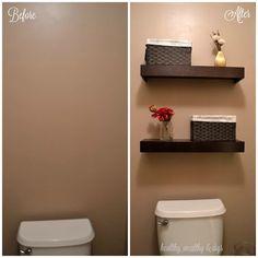 half baths, downstairs bathroom, bathroom updates, toilet room, small bathrooms, master bathrooms, bathroom ideas, powder rooms, guest bathrooms
