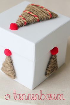 Pretty Twine Trees DIY for Decorating Your Holiday Gift Wrap & Packages