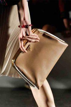 #PRADA leather clutch