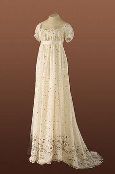 Russian Ball Gown. evening dresses, ball gowns, regency era, 1800, the dress, jane austen, everyday dresses, ball dresses, regency dress