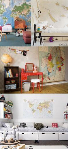 Decoração com mapas