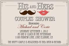Couples Shower Invite