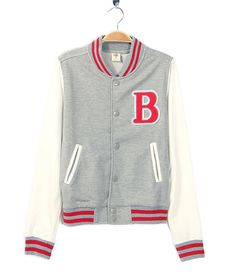 2012 New Grey Letter B Wool Jacket for Boys And Girls [2012 New Grey Letter B Wool Jacket] - $54.00 : letterman jackets cheap