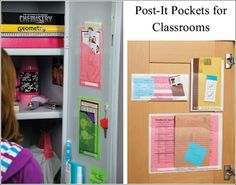 Using Post-It Pockets for Classroom Use #edu