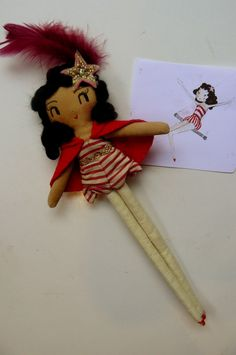 Coco Mini. One-of-a-kind handmade art doll by curiouspip on etsy