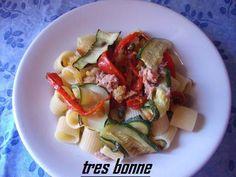Pasta fredda con verdure grigliate e tonno