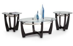 """Matinee 3 Pack Tables--- Coffee Table: (48"""" L x 32"""" D x 20"""" H); End Tables: (26"""" L x 26"""" D x 24"""" H)--- $299"""