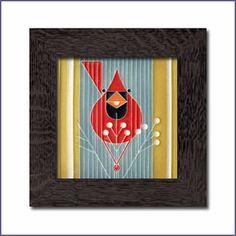 Charley Harper Autumn Edibles Framed Tile