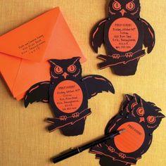 owl Halloween invites (martha stewart)