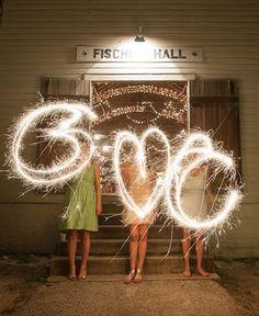 We totally fell for this Texas dance hall-style wedding, and the DIY sparkler idea just screams summer wedding. (Eric Kotara Photography)