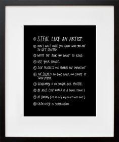 Steal like an atrist by austin kleon