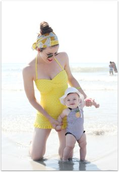 Hot Mom and Hot Bathing Suit.