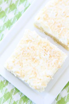 Coconut Lime Sugar Cookie Bars Recipe on twopeasandtheirpod.com Love these easy cookie bars! #cookies