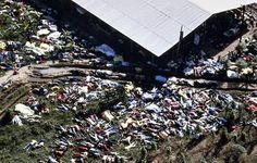 """Jonestown mass-suicide/mass murder- November 18, 1978: The Peoples Temple """"cult leader"""" Jim Jones convinced 909 Temple members to commit a mass suicide in Jonestown, Guyana. Over 200 children were murdered at Jonestown by being forced to drink cyanide by the Temples """"highest members."""""""