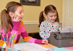 office supplies + imagination = pretend office #kids