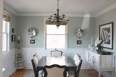 Silver Sage dining rooms, wall colors, restoration hardware, living rooms, dine room, gray walls, paint colors, hous, silver sage