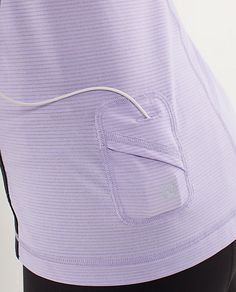 Lu Lu Lemon has got it going on! A running shirt that has a special pocket for your iPod.
