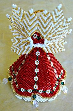 Back of the Petal Angel Beaded Ornament Pattern