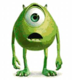 Monsters Inc Mike Cross Stitch Pattern  pdf by CustomPatterns, $4.00
