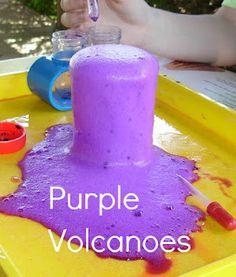 2 Big, 2 Little: Purple Volcanoes