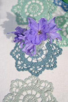 Violet on blue