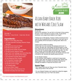Be the hit at your next BBQ with these Asian Baby Back Ribs and Wasabi Coleslaw! #SummerGrilling #CelebrateSummer