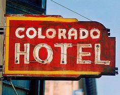 fine art photo of the The Colorado Hotel, Trinidad, Colorado  #Route66 #VintageSigns #NeonSigns #MotherRoad #RoadsideAmericana #GhostSigns #Retro #VanishingAmerica #SmallTown #Abandoned #Rustic #Decay #RoadsideAttraction