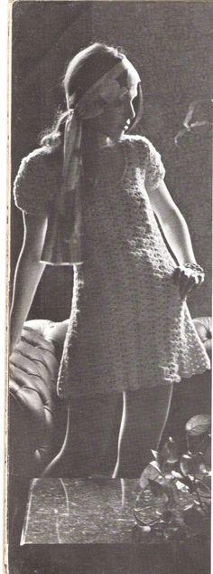 DRESS  Crochet Openwork Mini Dress by suerock on Etsy, $3.99