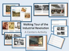 Walking Tour of the Industrial Revolution Interactive Class Activity. $