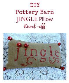 Pottery Barn Jingle Pillow Knock-off