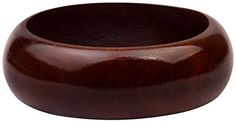 Women's Wooden Stacking Bangle in a High Gloss finish. The chocolate brown is on trend for this Fall 2014
