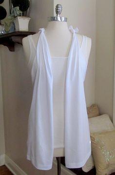 WobiSobi: Grey, No Sew Vest, DIY