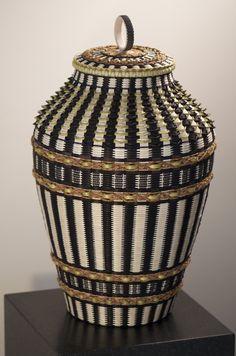 Custom basket designed by Passamaquoddy basket maker Jeremy Frey www.maverickstyle.net